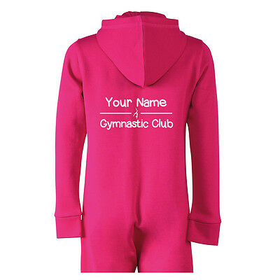 Personalised Girls Gymnastics Onesie with your Name and Club Name gym crash mat