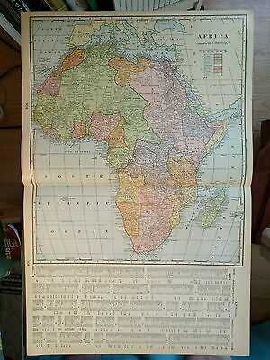 "AFRICA Map 1902 Antique Original Crams Cape Town FINE 14.5""x22"" Old MAPZ112"