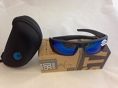 d36f4815a1a Costa Del Mar Rafael Blackout   Blue Mirror Glass 580 580G Genuine  Sunglasses
