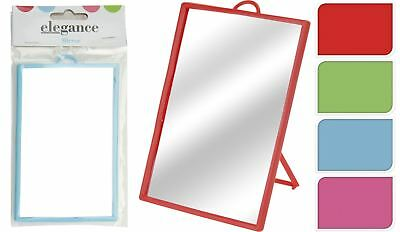 Mirror With Stand 14Cm X 10Cm Travel Purse Hanging Makeup Beauty Dresser