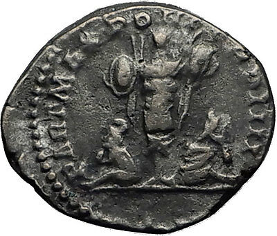 CARACALLA 201AD Silver Authentic Ancient Roman Coin Trophy Tropaion Rare  i60391