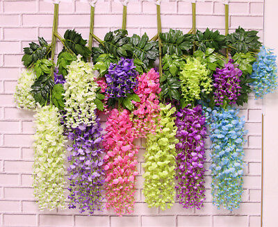 75-110cm Artifical Fake Flower Ivy Vine Hanging Garland Plant Wedding Home Decor