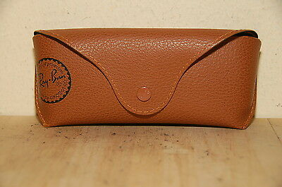 Ray Ban Brown Leather Sunglasses Case Only Black interior
