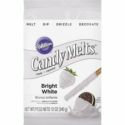 Wilton 12oz Vanilla Candy Melts Dipping Coating Cake Pops Bright White 1911-1300
