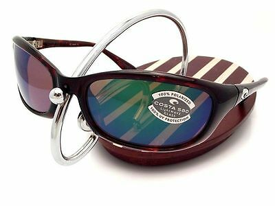 a4a04508e2 Costa Del Mar Harpoon Tortoise 580G Green Mirror Genuine Sunglasses 580G -  NEW