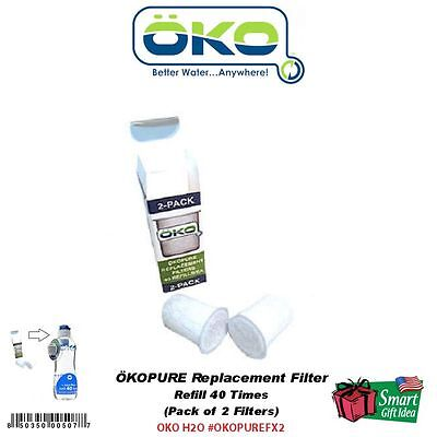 OKO PURE Replacement Filter (2-Pack) for 40-Refill Water Bottle #PUREFX2