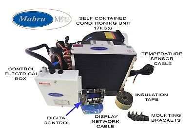 MPS 17000 BTU 115V Marine Air Conditioning touch Digital Control, stainless base