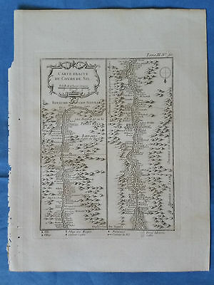 Course of the Nile, Egypt - Bellin, 1764