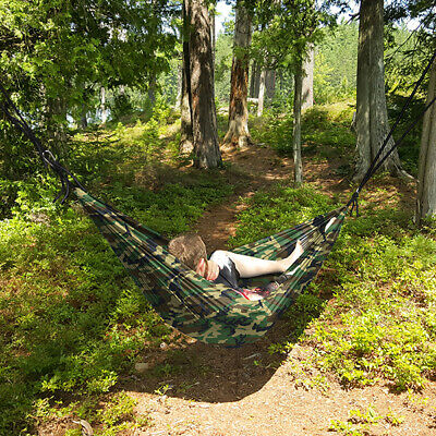 Camouflage Camo Double Person Camping Hammock Outdoor Travel Swing Heavy Duty