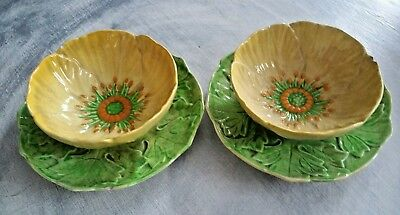 Rare Set Of 2 Carton Ware Australian Design Soup Bowls With Underplate