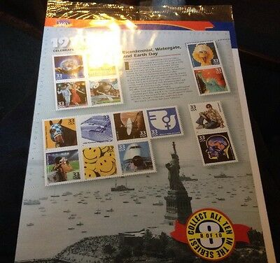 Collectable 'Celebrate The Century' USA Stamps, Marking The 1970s. Unopened