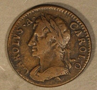 1675 Great Britain Farthing Chas. II Circulated     ** Free U.S. Shipping **