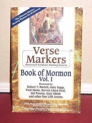 Verse Markers Book of Mormon Volume 1 *SCRIPTURE STICKERS* Marking System LDS