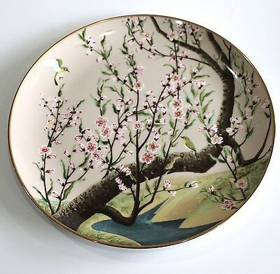 Franklin Mint The White-Eye & The Peach Plate Birds & Flowers Of Orient- Japan