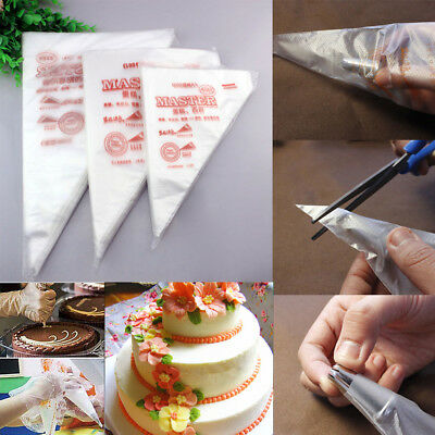 100pcs Disposable Cream Pastry Cake Icing Piping Decor Dercorate Bag Baking Tool