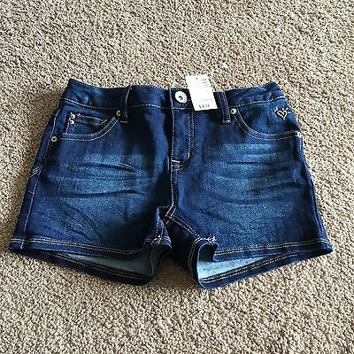 NWT Justice Girls Size 12 Dark Wash Jean Shorts $29.90