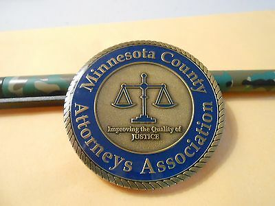 Minnesota County Attorneys Association Challenge Coin #565 Legal
