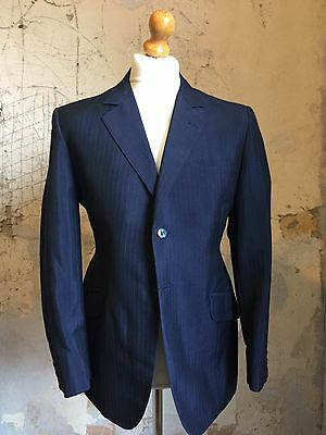 Vintage Bespoke Mohair 1960's 3 Three Piece Suit Size 40