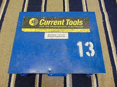 """Current Tool 154 Hydraulic Knockout Punch & Dies Case 1/2"""" - 4"""""""