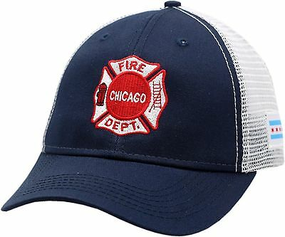 934278474f9 Chicago Fire Department Maltese Logo W Chicago Flag Patch Mesh 2-Tone Hat-