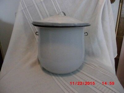antique white granite chamber pot very old