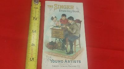 Antique SINGER DRAWING BOOKs FOR YOUNG ARTISTS Sewing Machine br6