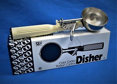 SYSCO Disher 4338786 *US MADE* Commercial Portion Control Scoop Size10 3-1/4 oz