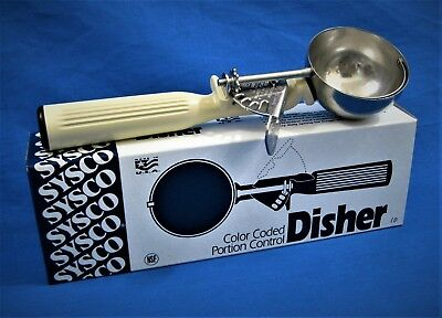 SYSCO (Vollrath) Disher 4338786 *US MADE* Portion Control Scoop Size 10 3-1/4 oz