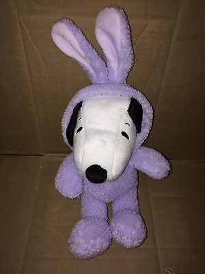 Hallmark Snoopy Easter Plush - Snoopy in purple bunny suit