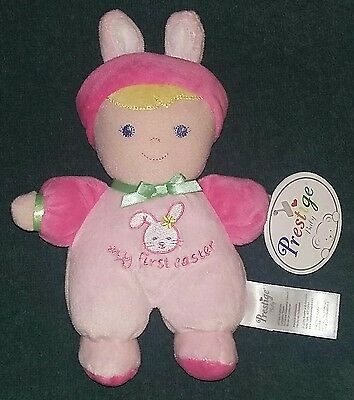 """NEW Prestige Baby Girl """"My First Easter"""" Doll/Rattle~Babys 1st Easter Basket Toy"""