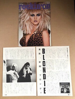 1982 Blondie vintage JAPAN magazine article + cover page / photo / clippings 8r
