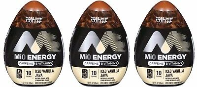3 Mio Energy ICED VANILLA JAVA Caffeine MADE WITH COFFEE Concentrate Drink Mix