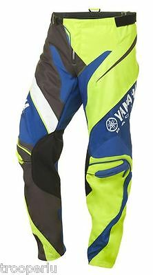 Yamaha Racing Mx Pants Adults Motocross Dirt Offroad #a17-Gp100-G1