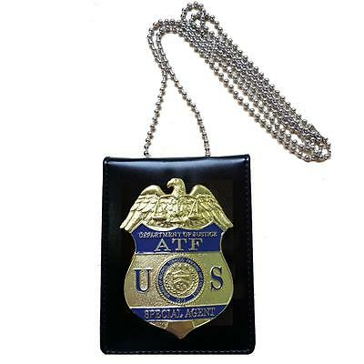 US ATF Alcohol Tobacco and Firearms Special Agent Badge Card ID Cards Holder
