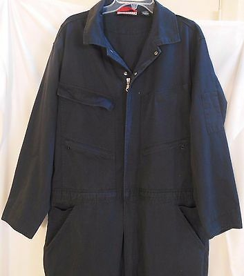 Craftsman Mechanic Coveralls Jumpsuit XL Navy Blue Long Sleeve 11 Pocket VGUC