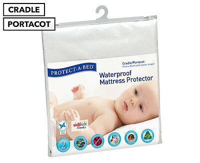 Protect-A-Bed Cradle/Portacot Waterproof Mattress Protector with Elastic Straps