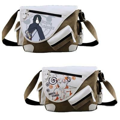 Anime Uzumaki Uchiha Sasuke Canvas Messenger Bag Shoulder Bag Satchel Schoolbag