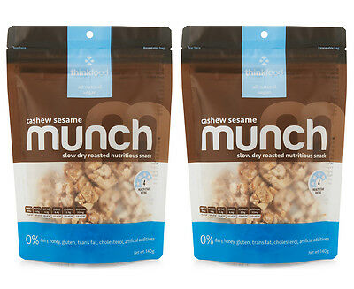 2 x Munch Cashew Sesame Trail Mix 140g