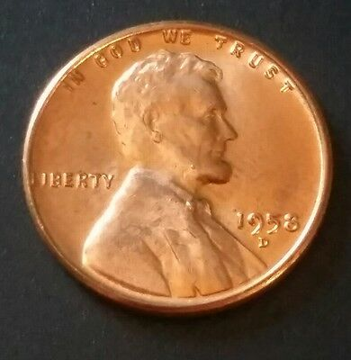 1958 D Lincoln Wheat Cent / Penny Uncirculated