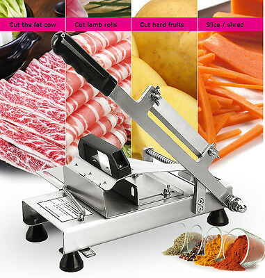 Manual Frozen Meat Slicer Handle Meat Cutting Machine 304 Stainless Steel