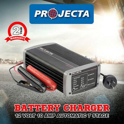 Projecta Ic1000  Volt 10 Amp Automatic 7 Battery Charger 12 Stage Agm Deep Cycle