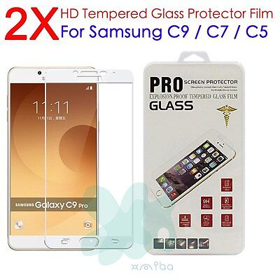 NEW Premium Full Cover Tempered Glass Screen Protector For Samsung Galaxy C9 Pro