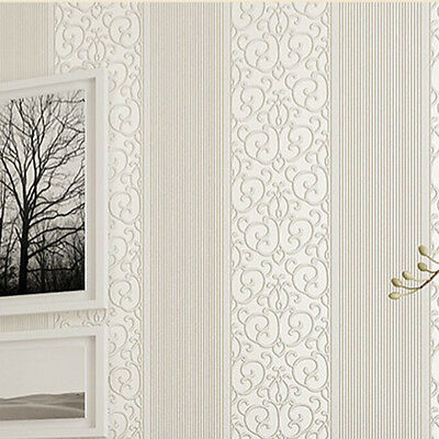 Modern 3D Non-woven Embossed Wall&paper Mural Roll Bedroom Wall Background Decor