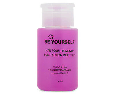 Be Yourself Nail Polish Remover Pump Action Dispenser 145mL
