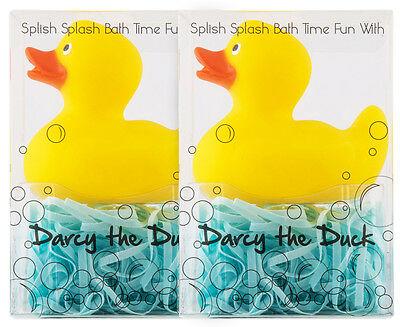 2 x Darcy The Duck Rubber Toy And Bath Soap Set