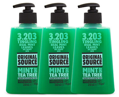 3 x Original Source Handwash Mint & Tea Tree Oil 250mL