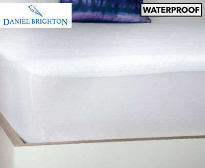 Sleepcare Single Cotton Terry Waterproof Mattress Protector - White