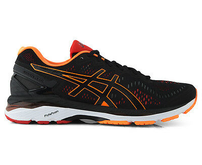 ASICS Men's GEL-Kayano 23 Shoe - Black/Hot Orange/Vermilion