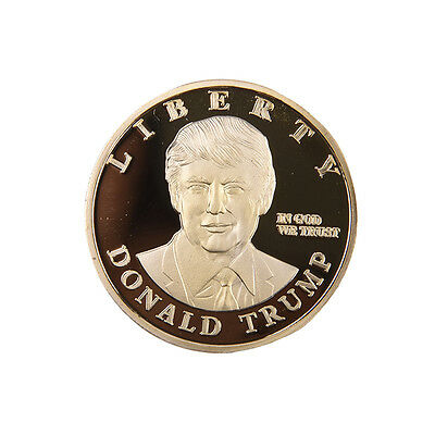 Gold 2016 US Presidential Donald Trump Coin Commemorative Art Craft Gift