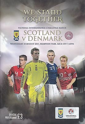 SCOTLAND v DENMARK ~ INTERNATIONAL FRIENDLY ~ 10 AUGUST 2011 ~ MINT CONDITION